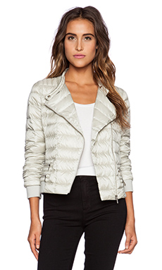 ADD Down Biker Jacket in Silver