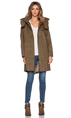 ADD Unlined Rainwear Parka in Treetop & Butterfly