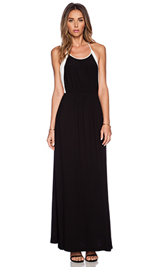ADDISON Llyod Halter Maxi Dress in Black