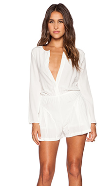 ADDISON Deidre Romper in Milk
