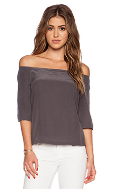 ADDISON Dudley Off Shoulder Top in Midnight