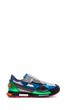 adidas by Raf Simons Rising Star 2 in Light Grey/ Black/ Collegiate Green