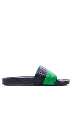 adidas by Raf Simons Two Tone Adilette in Col Navy Green