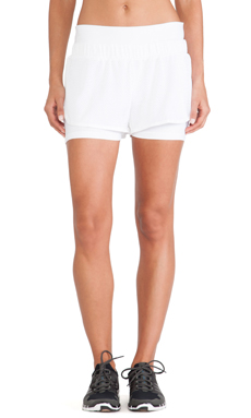 adidas by Stella McCartney Studio Mesh Shorts in White