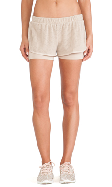 adidas by Stella McCartney Studio Mesh Shorts in Ginger