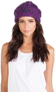 adidas by Stella McCartney Ski Hat in Indigo & Pop Purple