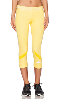 adidas by Stella McCartney Running 3/4 Tights in Glow Yellow