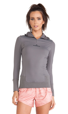 adidas by Stella McCartney Perforated Hoodie in Sharp Grey