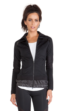 adidas by Stella McCartney Perforated Mid Layer Jacket in Black