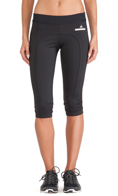 adidas by Stella McCartney 3/4 Running Tights in Black