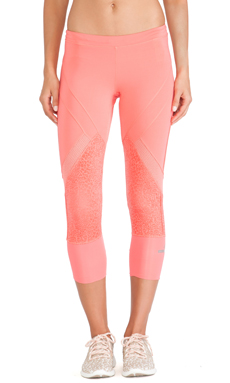 adidas by Stella McCartney Essentials 3/4 Starter Tights in Poppy Pink