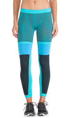 adidas by Stella McCartney Studio Tights in Indigo & Natural Grey & New Ocean