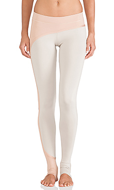 adidas by Stella McCartney Studio Perforated Tights in Shell Beige & Rose Tan