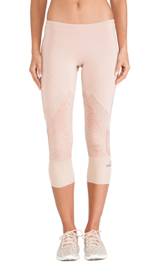 adidas by Stella McCartney Essentials 3/4 Starter Tights in Rose Tan