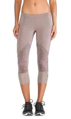 adidas by Stella McCartney Essentials 3/4 Starter Tights in Natural Grey