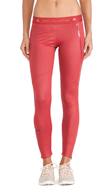 adidas by Stella McCartney Perforated Running Tights in Deep Red