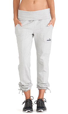 adidas by Stella McCartney Essentials Knit Pants in Medium Grey Heather