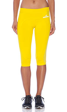 adidas by Stella McCartney 3/4 Running Tights in Canary Yellow