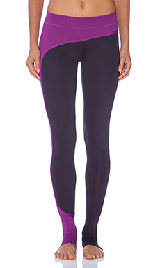 adidas by Stella McCartney Studio Perforated Tights in Dark Space & Pop Purple