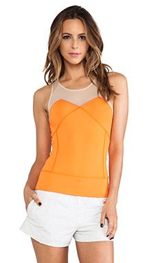 adidas by Stella McCartney Run Perf Tank in Intense Orange & Ginger