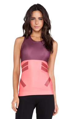 adidas by Stella McCartney Techfit Running Tank in Light Maroon & Poppy Pink