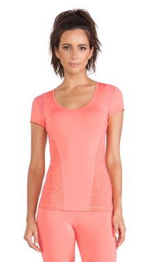 adidas by Stella McCartney Essentials Starter Tee in Poppy Pink