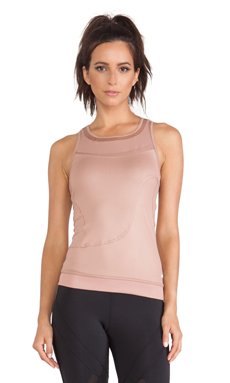 adidas by Stella McCartney Perforated Running Tank in Tanned Sand