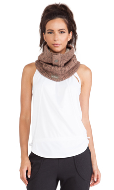 adidas by Stella McCartney Wintersport Ski Neck Warmer in Base Brown & Shell Beige