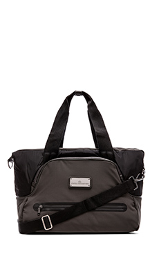 adidas by Stella McCartney Iconic Small Tote in Black/Raven & Gunmetal
