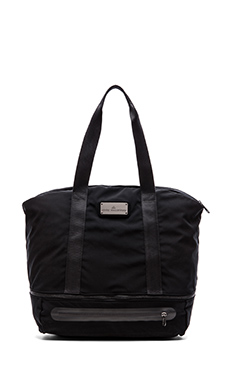 adidas by Stella McCartney Iconic Big Tote in Black/Sharp Grey & Gunmetal