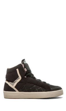 adidas by Stella McCartney Discosura Essential Hiker Sneakers in Black & Shell Beige & White