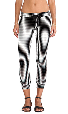 A Fine Line Kelly Pants in Black/White Stripe