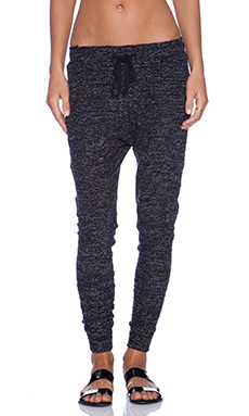 A Fine Line Ava Drop Crotch Sweatpants in Tweed Black