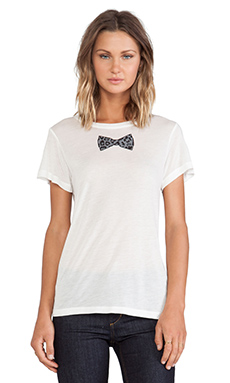 A Fine Line Bowtie Hastings Tee in White