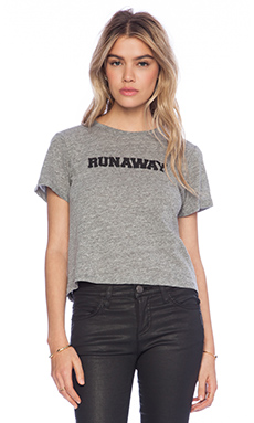 A Fine Line Runaway Brothers Crop Tee in Heather Grey