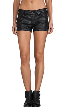 AG Adriano Goldschmied The Cocktail Short in Leatherette Black