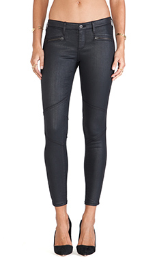 AG Adriano Goldschmied Moto Legging in Blackslick