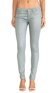 AG Adriano Goldschmied The Legging en Leatherette Luster Deep Quarry