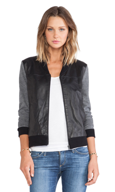 AG Adriano Goldschmied Channel Bomber in Cavern Heather/ True Black