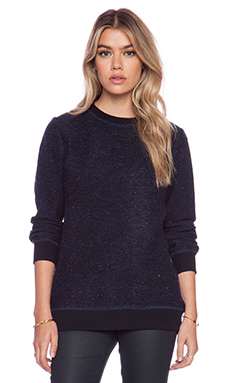 AG Adriano Goldschmied Prey Pullover in Double Indigo & Black