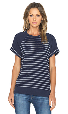 AG Adriano Goldschmied Arie Stripe Sweatshirt in Night Eclipse