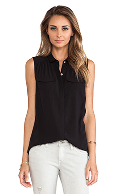 AG Adriano Goldschmied Sway Sleeveless Top in Black