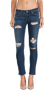 A Gold E Chloe Low Rise Skinny in Tribeca Distressed
