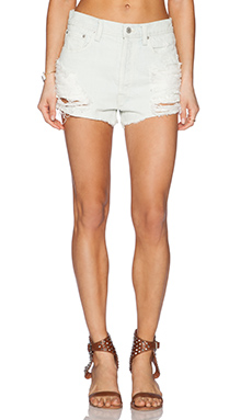 A Gold E Parker Cut Off Short in Blanche