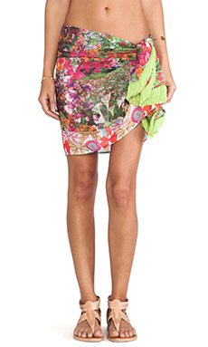 Agua Bendita Loving the Flowers Historia Sarong in Pink Floral