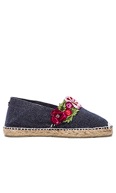 Agua Bendita The Garden Bendito Rosal Espadrilles in Navy
