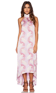 Aila Blue Jelita Maxi Dress in Orchid Palm