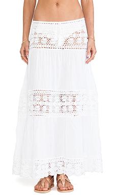 Anna Kosturova Filigree Maxi Skirt in White