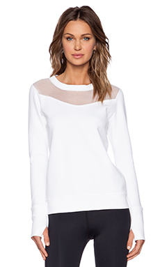 ALALA Long Sleeve Sweatshirt in White