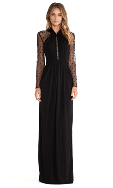 Alice by Temperley Draped Amber Maxi Dress in Black